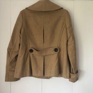 Banana Republic Jackets & Coats - Banana Republic tan wool, double-breasted peacoat